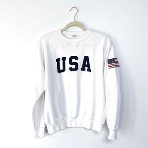 John Galt Brandy Melville USA White Sweatshirt